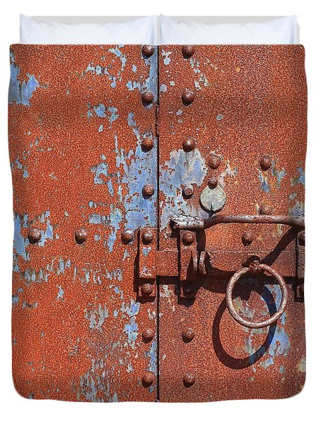 Rusty Door Duvet Cover