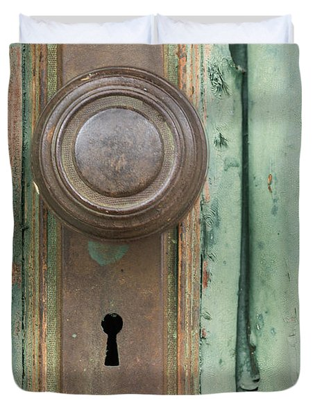 Rusty Doorknob Duvet Cover