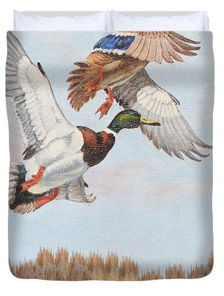 Rusty Duck Calling-jp2819 Duvet Cover