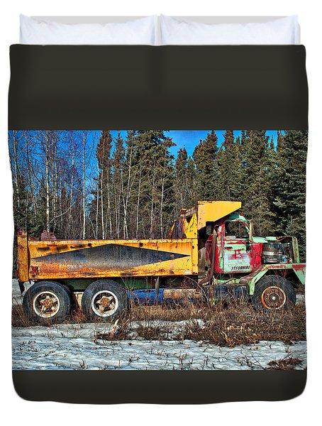 Rusty Dump Truck Duvet Cover