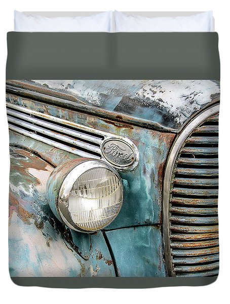 Rusty Ford 85 Truck Duvet Cover by David Lawson