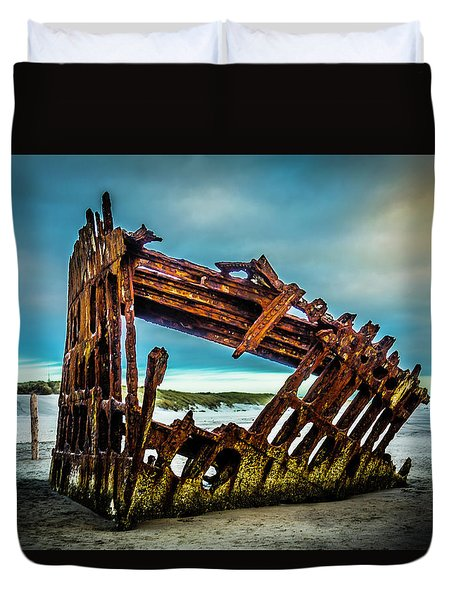 Rusty Forgotten Shipwreck Duvet Cover