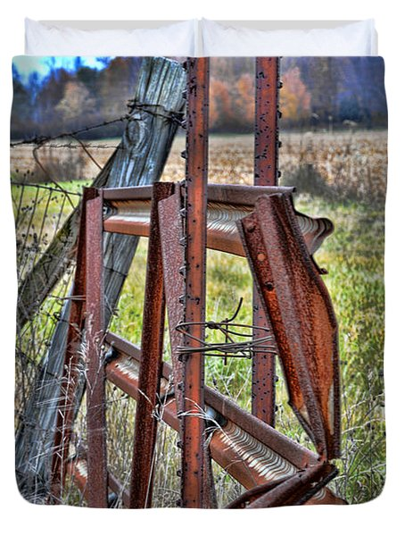 Rusty Gate Duvet Cover by Pat Cook