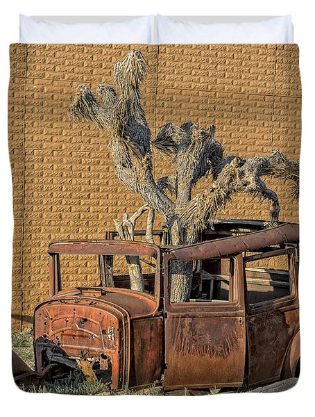 Rusty In The Desert Duvet Cover