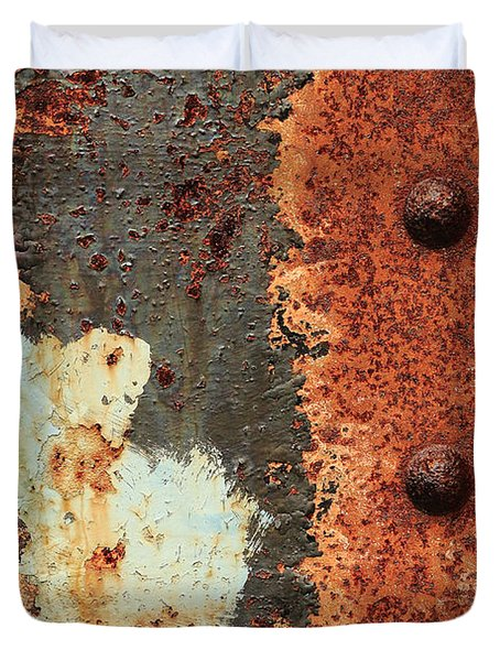 Rusty Layers Duvet Cover
