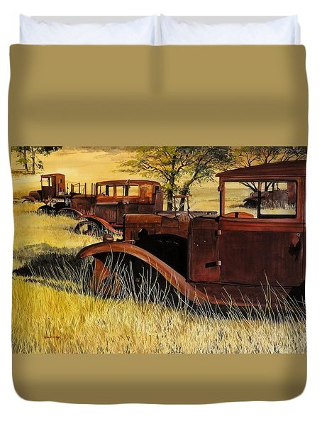 Rusty Meadows Duvet Cover