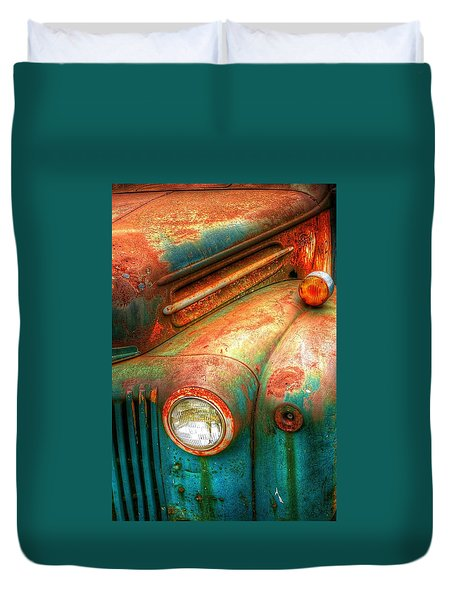 Rusty Old Ford Duvet Cover