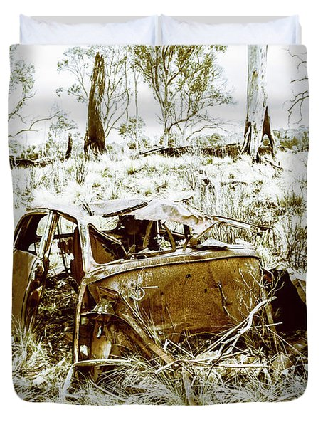 Rusty Old Holden Car Wreck  Duvet Cover