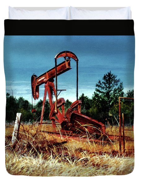 Rusty Pump Jack Duvet Cover