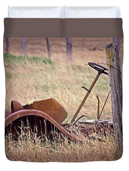 Rusty Remains Duvet Cover by Richard Farrington