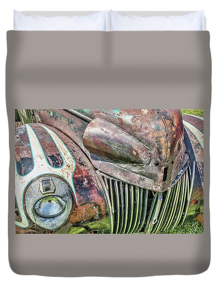 Rusty Road Warrior Duvet Cover by David Lawson