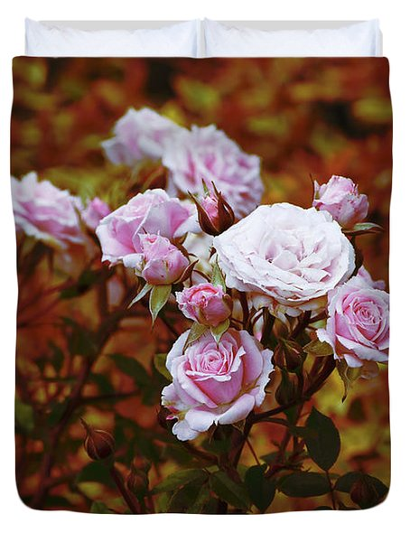 Rusty Romance In Pink Duvet Cover