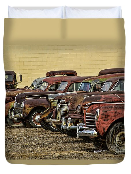 Rusty Row Duvet Cover