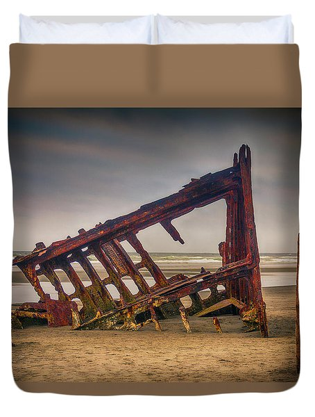 Rusty Shipwreck Duvet Cover