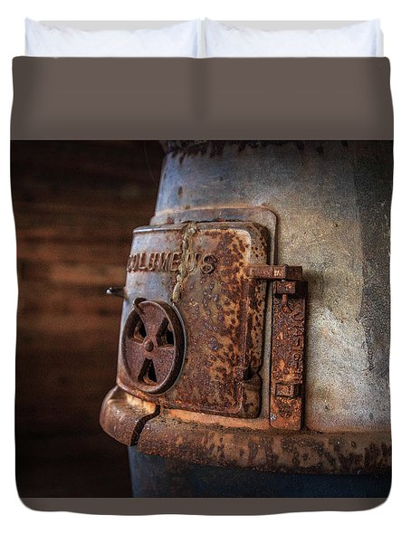 Duvet Cover featuring the photograph Rusty Stove by Doug Camara