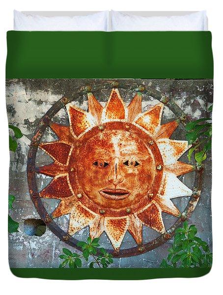 Rusty Sun Duvet Cover
