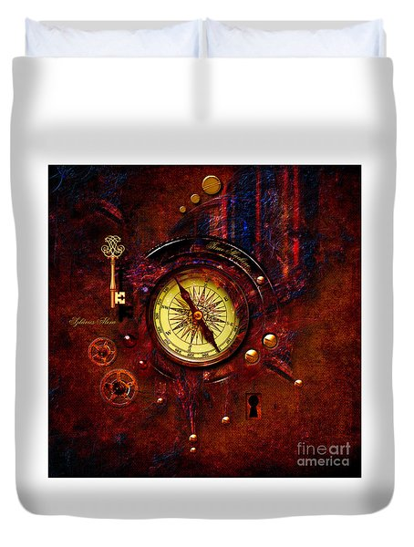 Rusty Time Machine Duvet Cover