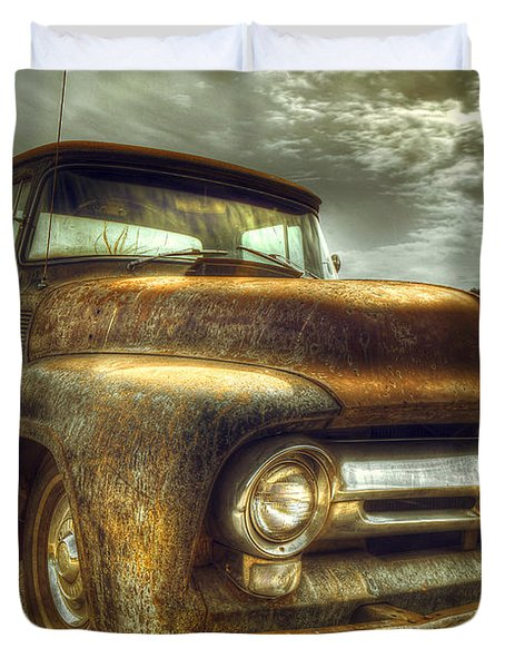 Rusty Truck Duvet Cover by Mal Bray