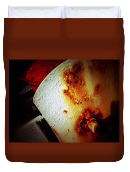 Rusty Winch Duvet Cover by Olivier Calas