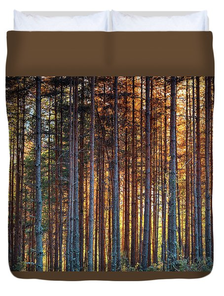 Rusy Forest Duvet Cover by Evgeni Dinev