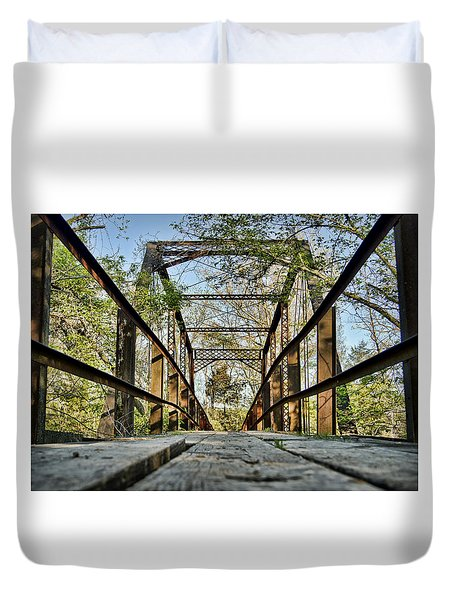 Englewood Bridge Duvet Cover by Cricket Hackmann