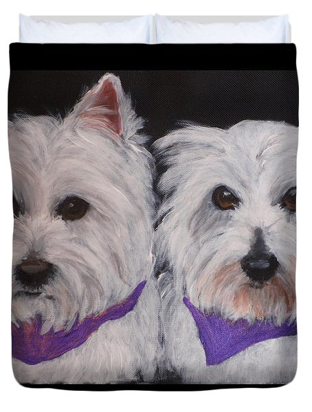Ruthie And Ellie Duvet Cover