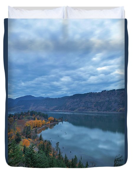 Ruthton Point During Evening Blue Hour Duvet Cover