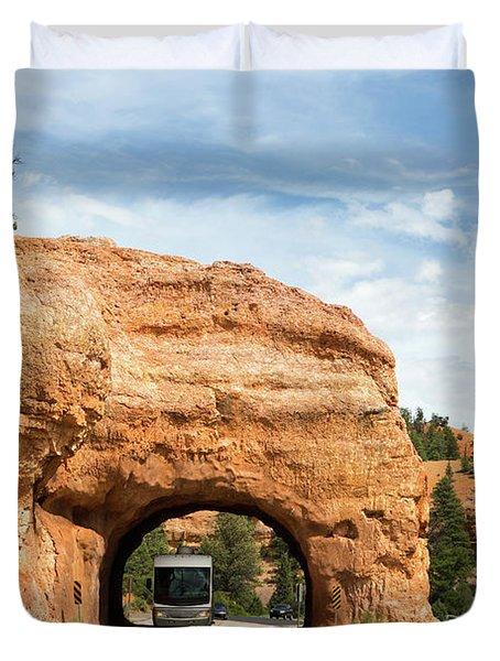 Rv Red Canyon Tunnel Utah Duvet Cover