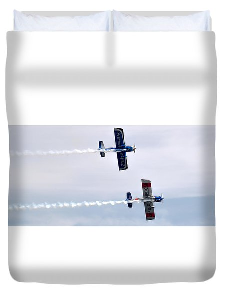 Duvet Cover featuring the photograph Rv8tors Side By Side by Scott Lyons