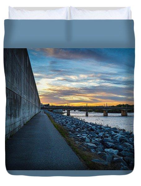 Rva Flood Wall Duvet Cover