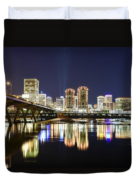 Rva Night Lights Duvet Cover