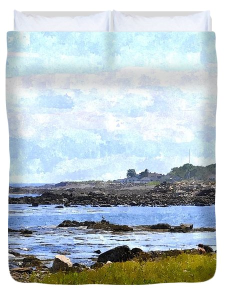 Rye Harbor Rhwc Duvet Cover by Jim Brage