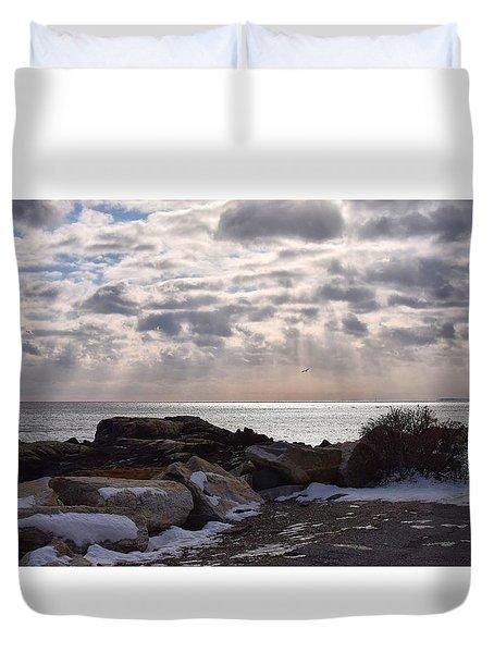 Rye In Winter Duvet Cover