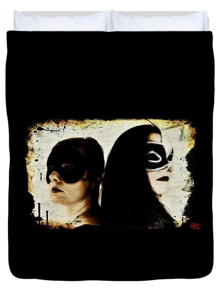 Ryli And Corinne 1 Duvet Cover by Mark Baranowski