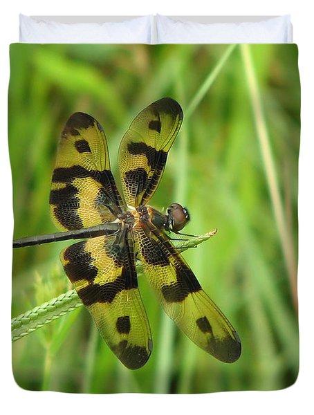 Ryothemis Dragonfly Duvet Cover