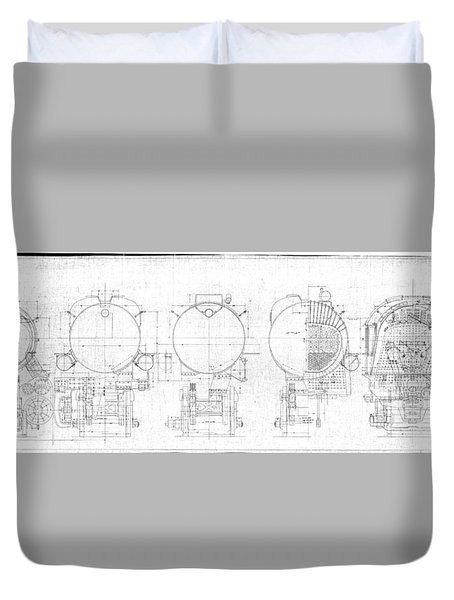 S-1a Cross Sections Duvet Cover