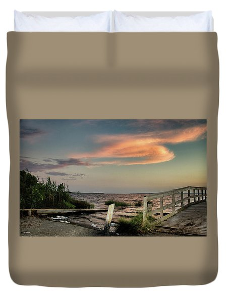 Time Is A River Duvet Cover