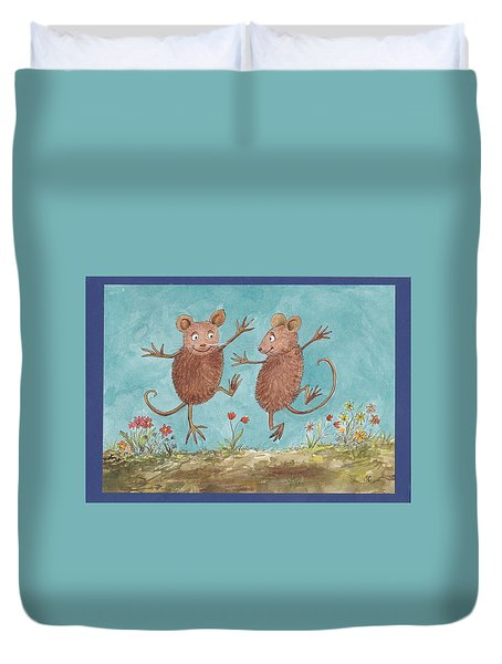 S1  Dancing Mice Duvet Cover by Charles Cater