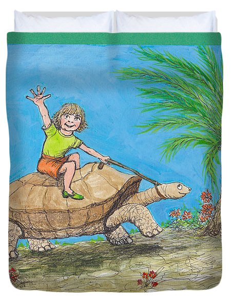 S7 Tortoise Ride Duvet Cover by Charles Cater