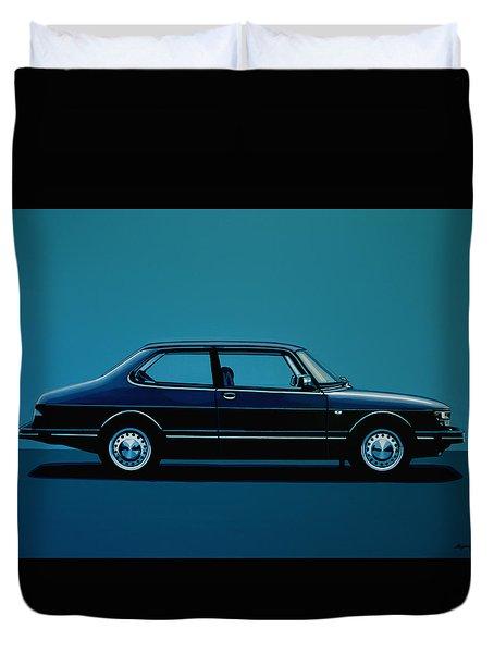 Saab 90 1985 Painting Duvet Cover