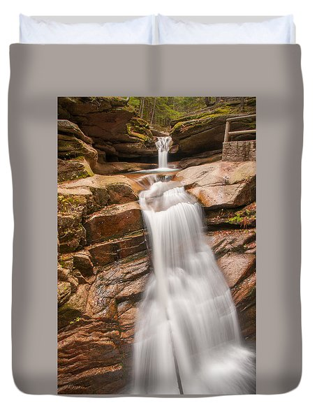 Sabbaday Falls Duvet Cover by Brenda Jacobs