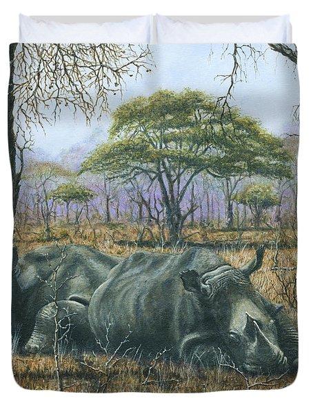 Sabi Sand Siesta Duvet Cover by Richard Harpum