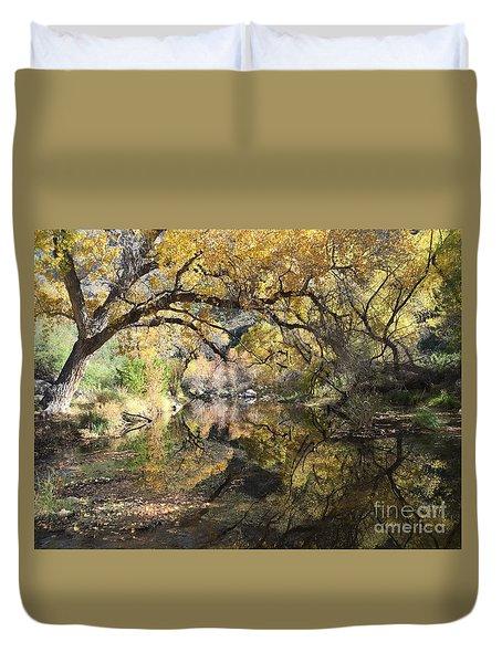 Sabino Canyon In Fall Duvet Cover
