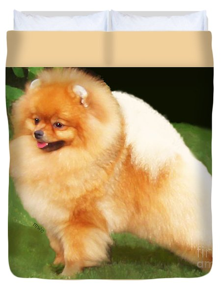 Sable Pomeranian Duvet Cover