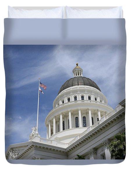 Sacramento Capitol Building Duvet Cover