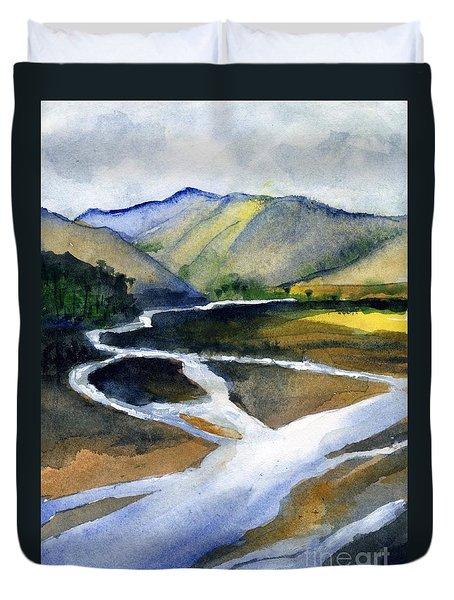 Sacramento River Delta Duvet Cover