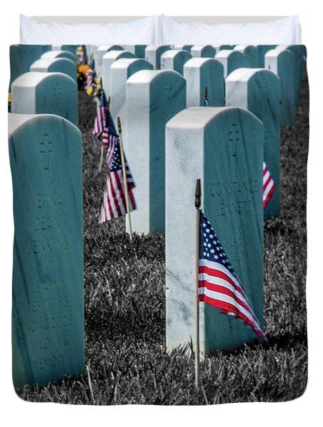 Sacramento Valley Veterans Cemetary Duvet Cover