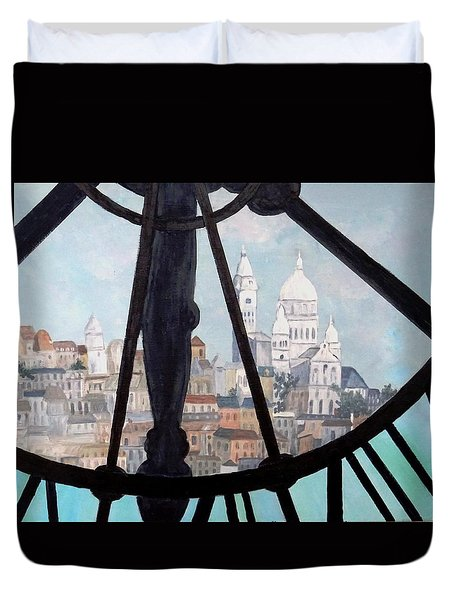 Sacre Coeur From Musee D'orsay Duvet Cover