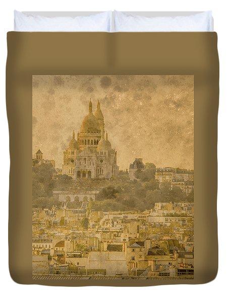 Paris, France - Sacre-coeur Oldplate Duvet Cover