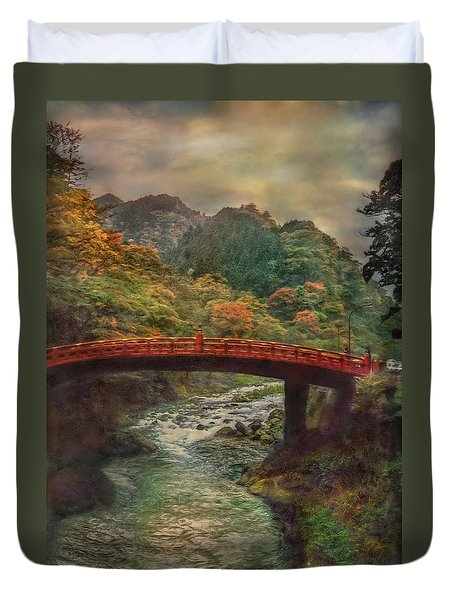 Duvet Cover featuring the photograph Sacred Bridge by Hanny Heim